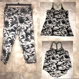 Women's 3 piece camouflage Activewear Set